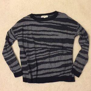 Olive & Oak Zebra Striped Knit Sweater